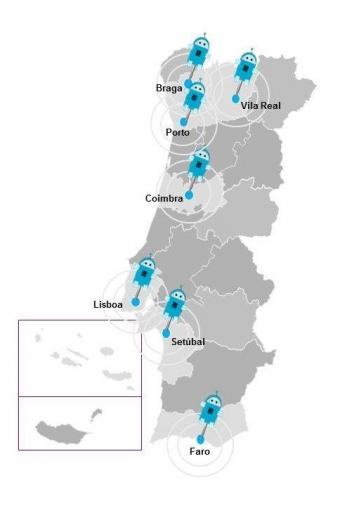 Mapa dos Eventos Regionais