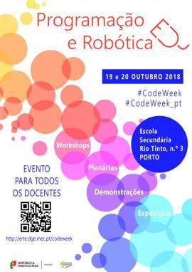 Cartaz do evento Programação e Robótica 2018